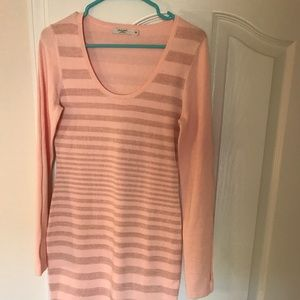 Dresses & Skirts - Pink Sweater dress with glitter stripes